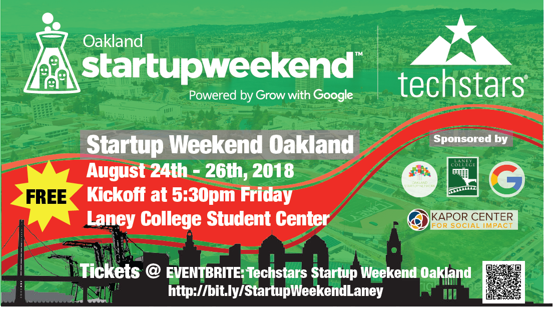 Techstars Startup Weekend Oakland, presented by Grow With